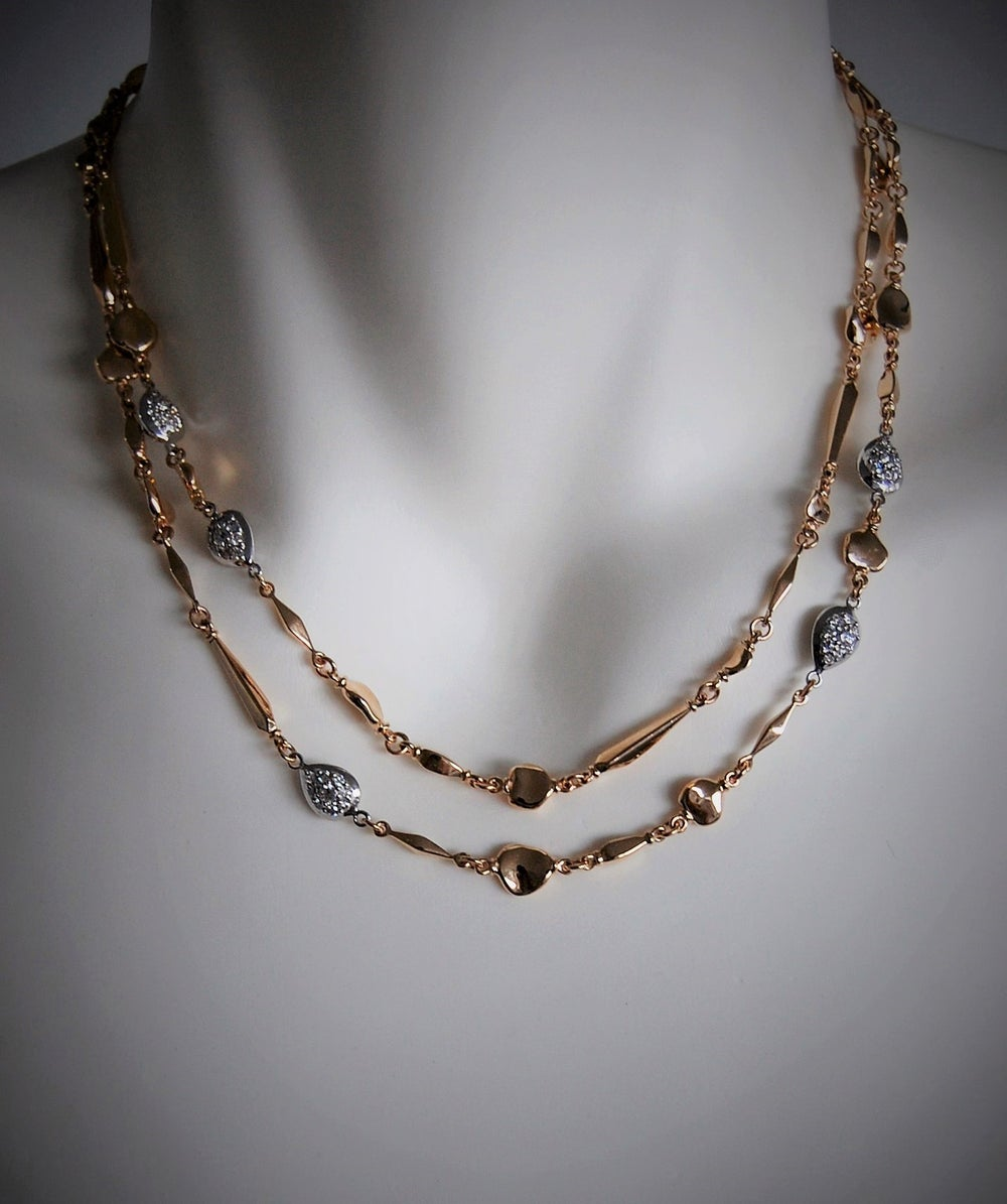 Image of Mare gold and diamonds necklace
