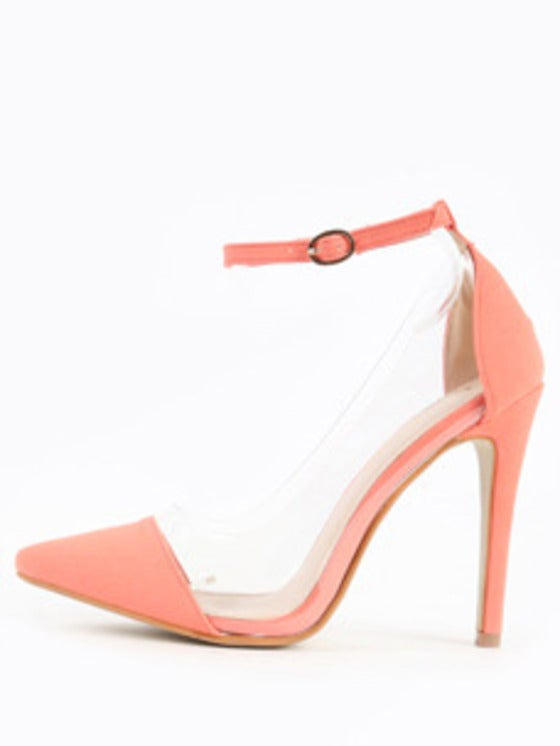 Image of Barely Basic Pumps w/ ankle strap (Coral)