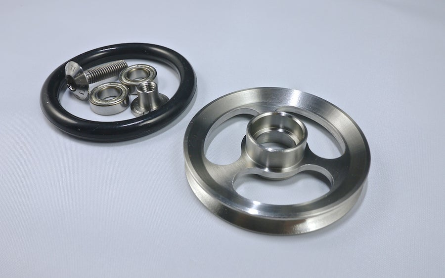 Image of Ti Parts Workshop Titanium Easy Wheel For Brompton