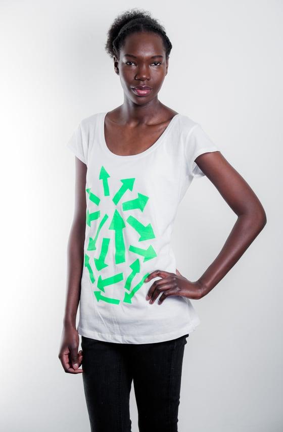 Image of Neon Green Arrow on White