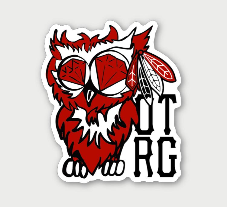 Image of CHICAGO OTRG OWL STICKER