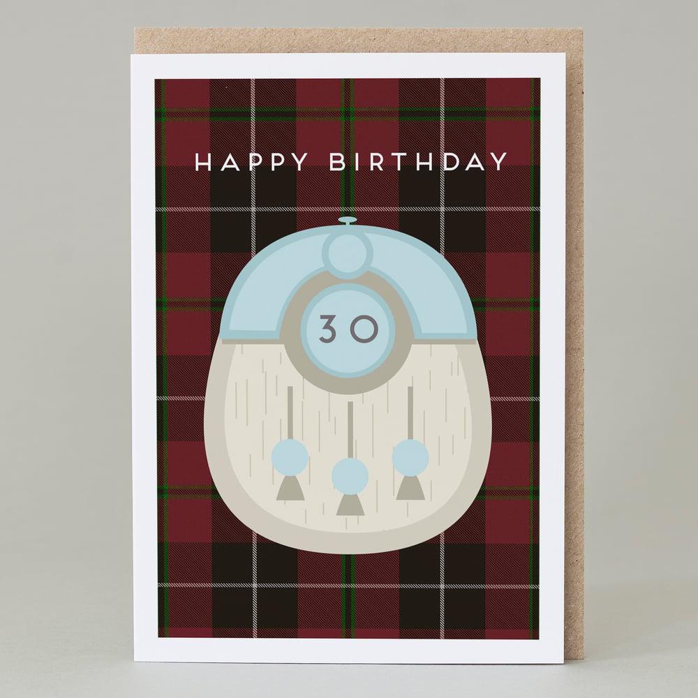 Image of 30th Birthday kilt card