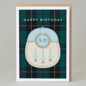 Image of 50th Birthday kilt card