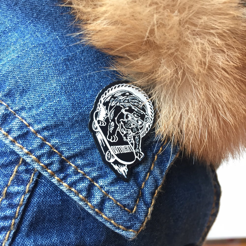 "Image of OUTRIGHT ""PAWSEVERANCE"" Lapel Pin"