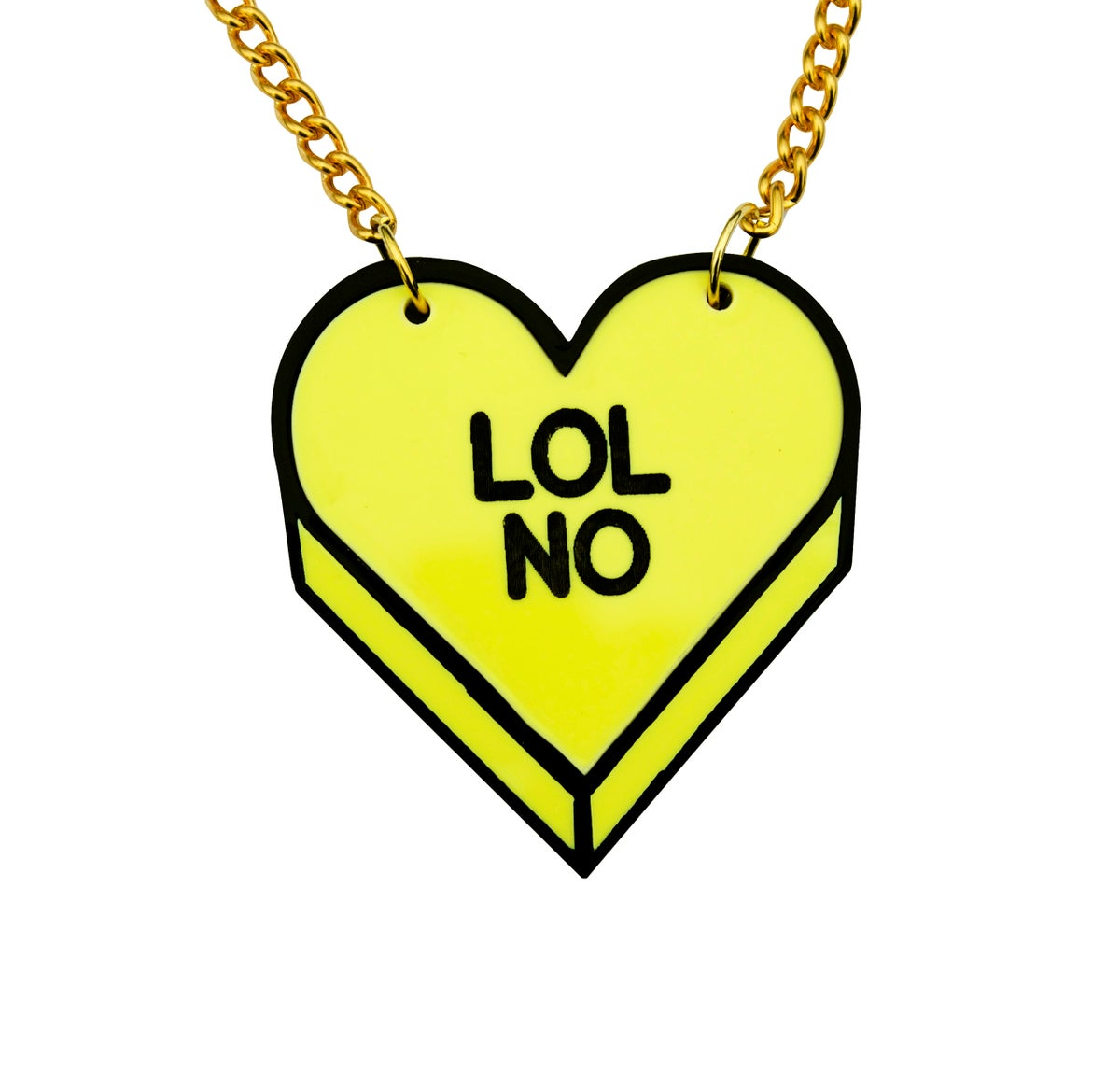 """Image of """"LOL NO"""" Candy Heart Necklace"""