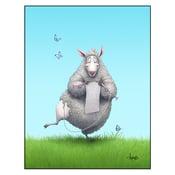 "Image of ""Ewe Are What Ewe Wear"" Sheep Print"