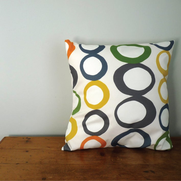 Image of Cut Hoops Cushion Cover