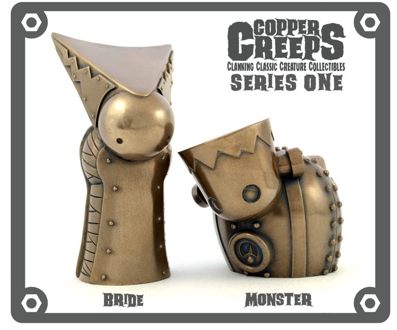 "Image of Copper Creeps Series 1 ""Metal"" Open editions Resin Figures"