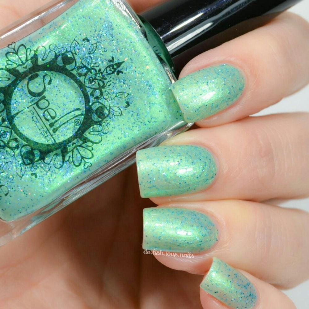 Magical Bracelet~ seafoam green glitter flakie Spell nail polish ...