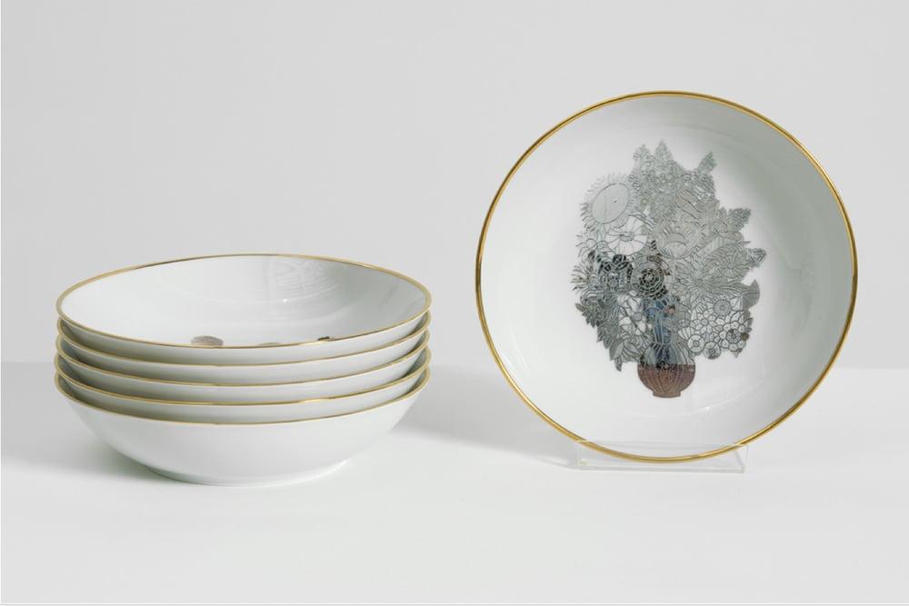 Image of Jeff Koons - Banality Series (Set of 6 coupe soup plates 19 cm)