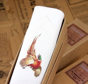 Image of Man's Handkerchief: Pheasant