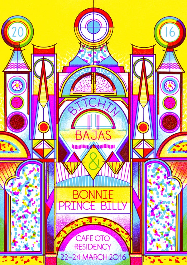 Image of Bitchin' Bajas & Bonnie 'Prince' Billy Poster - Cafe Oto Residency, London