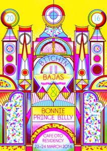 Image of Bitchin' Bajas & Bonnie 'Prince' Billy Poster - Cafe Oto Residency, London
