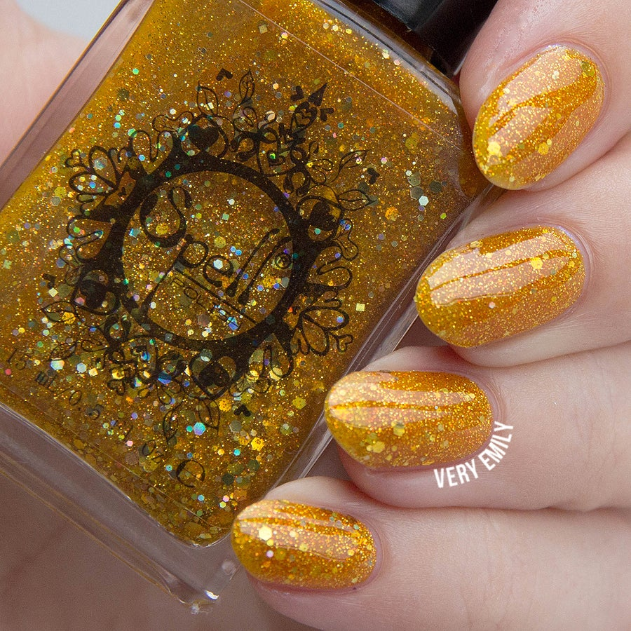 "Image of ~Jar of Light~ gold yellow jelly glitter Spell nail polish ""Legends & Dreams""!"