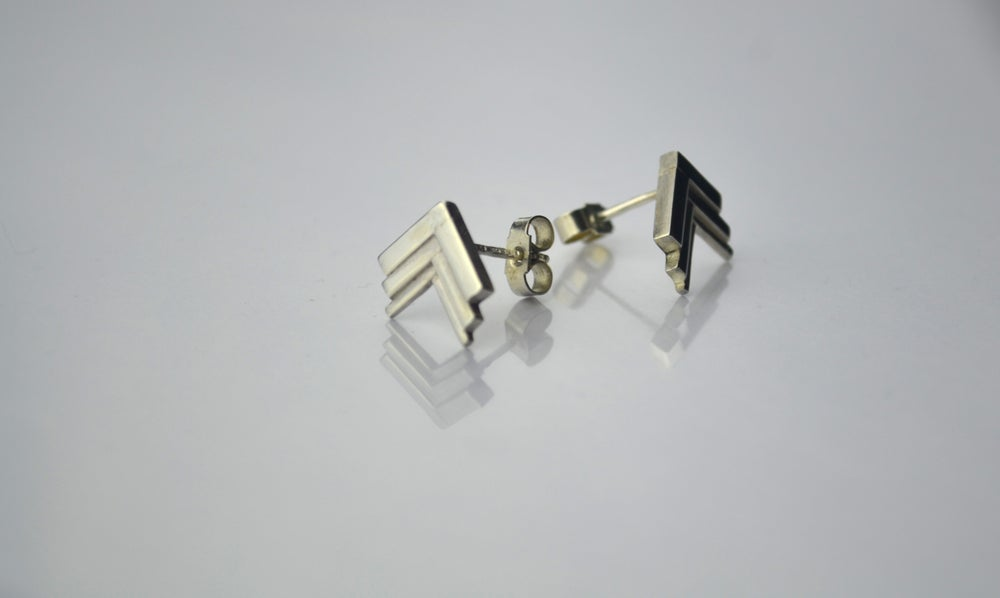 Image of THE ROSA TIERED EARRING