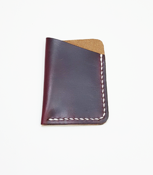 Image of Burgundy Horween Chromexcel Card Wallet