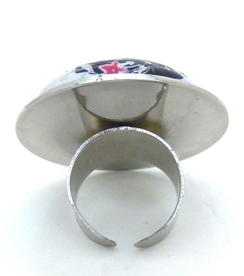 Image of Hand Painted Glazed Lady Ring