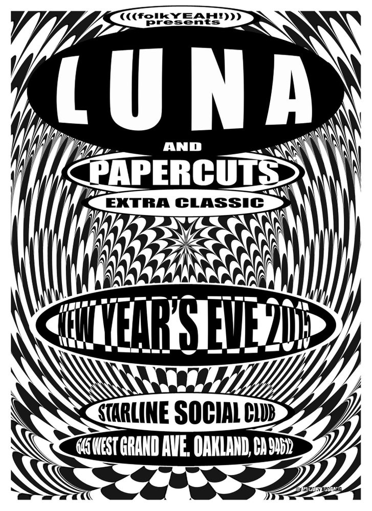 Image of Luna poster signed by Anthony Ausgang and Dean Wareham: 16 x 22 in.