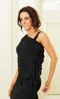 Image of Ruffled Top - Black E1313