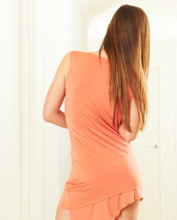 Image of Ava Top - Orange E1312 Dancewear latin ballroom