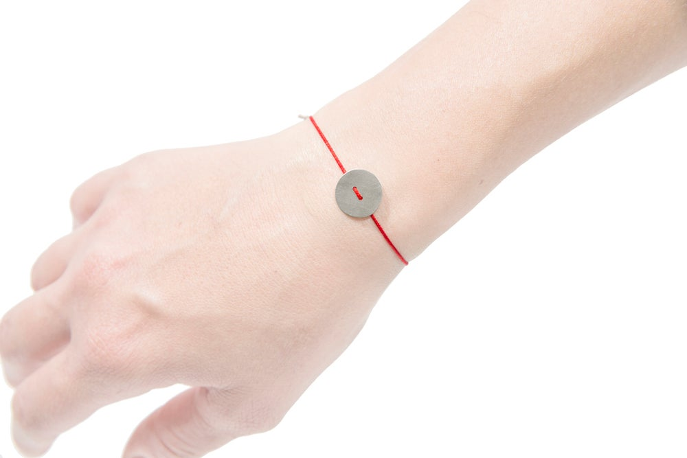 Image of ARCAICA - silver button bracelet