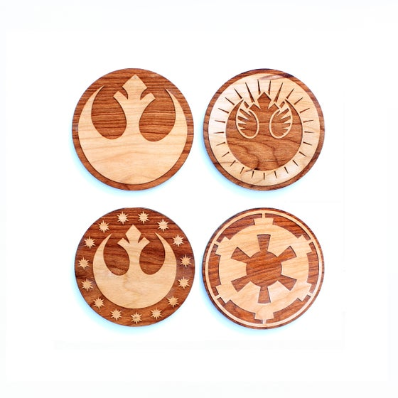Image of 4pc. Laser Cut Star Wars Coasters
