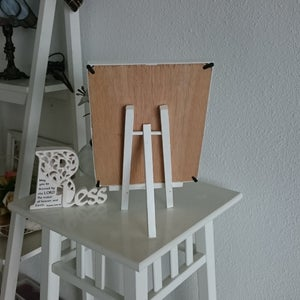 Small White Chalkboard with Stand (Use Liquid Chalk marker and regular chalk)