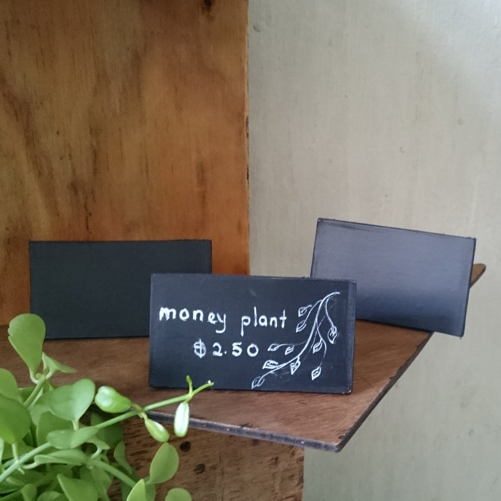 Image of Set of 3 Slanting Mini Chalkboard (Use liquid chalk marker and regular chalk)