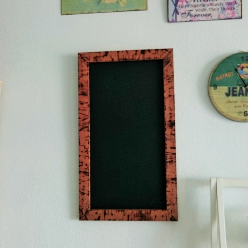 Image of Medium Chalkboard w Burnt Wood Frame