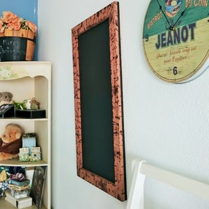 Medium Chalkboard w Burnt Wood Frame