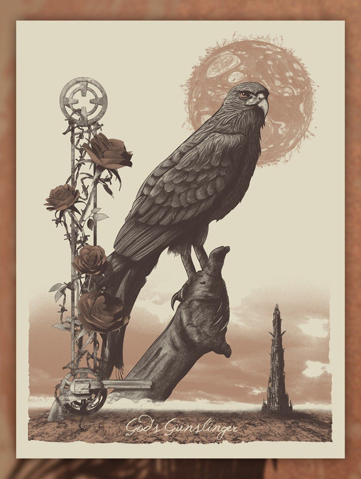 Image of 'God's Gunslinger' limited edition screen print