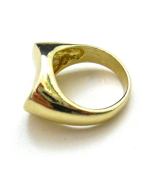 Image of Gold Metal Sculpture Ring