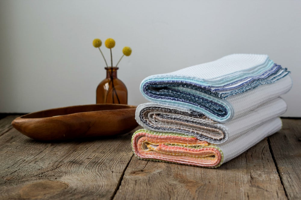 Image of Bundle of Kitchen Cloths, Unpaper Towels, Cleaning Cloths
