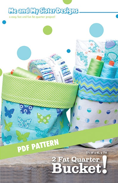 Image of 2 Fat Quarter Bucket! Electronic PDF pattern