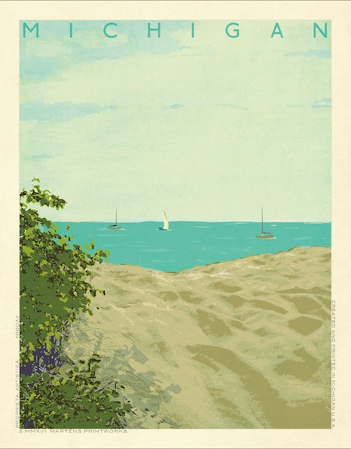 Image of Michigan Midday 11x14 Print No. [063]