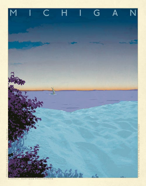 Image of Michigan Twilight Print No. [062]