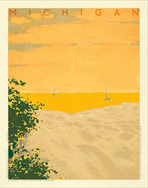 Image of Michigan Sunset Print No. [061]