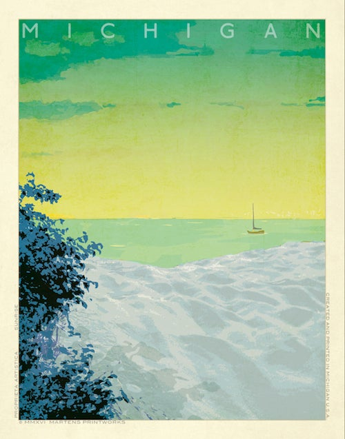 Image of Michigan Sunrise Print No. [060]