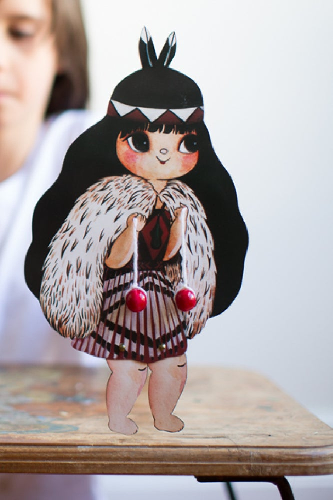 Image of Poi Waiwaiā Paper Doll