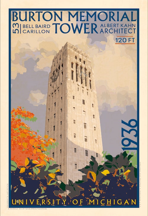 Image of Burton Memorial Tower Limited Edition 13x19 Print No. [055]