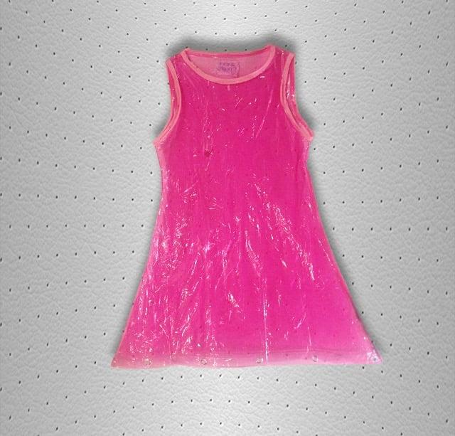 clear barbie dress
