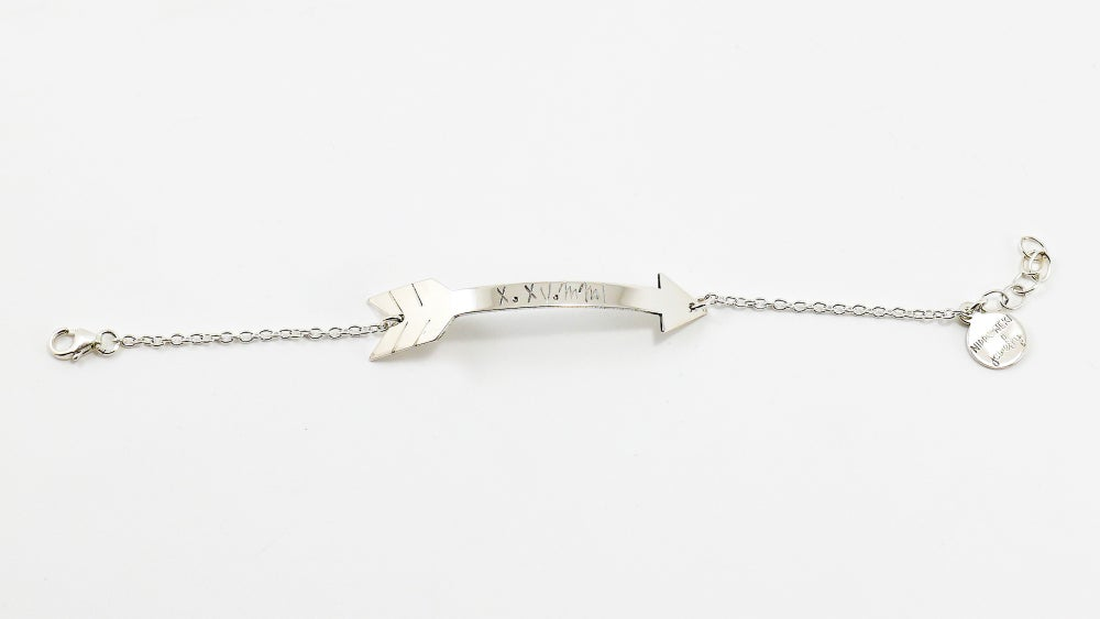 Image of Gold or Sterling Silver or Rose Gold Arrow Bracelet - Personalize Arrow Bracelet