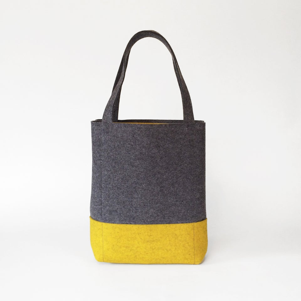 Image of Everyday Tote Charcoal & Yellow Ochre