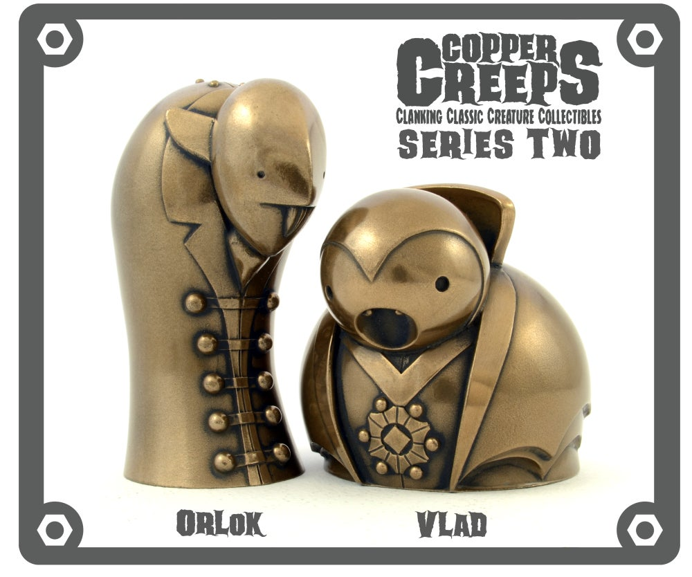 "Image of Copper Creeps Series 2 ""Metal"" Open editionsResin Figures"