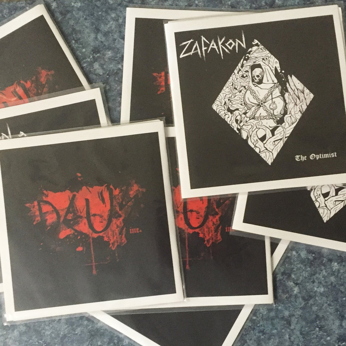 "Image of Zafakon / Deus Inc. SPLIT EP 7"" VINYL-NO MAILING"