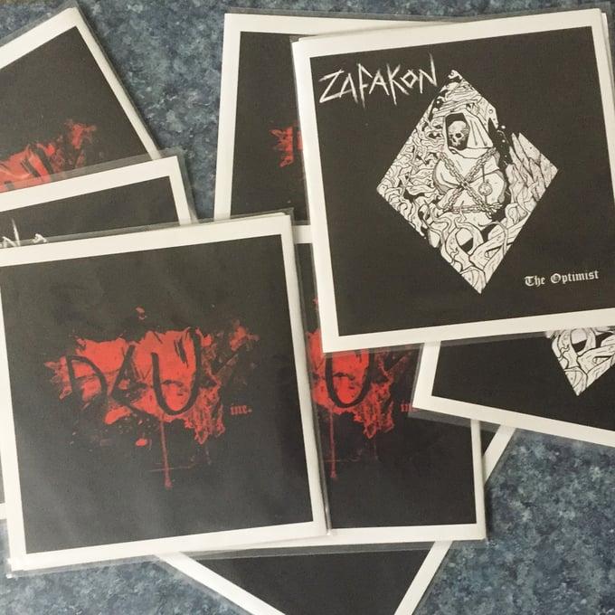 "Image of Zafakon / Deus Inc. SPLIT EP 7"" VINYL-NO MAILING"