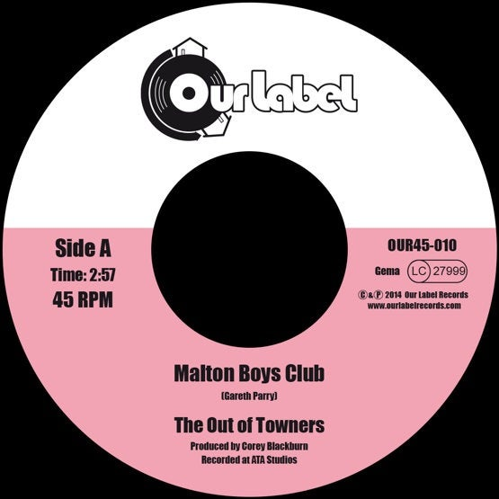 Image of Last Copies !!! The Out of Towners - Malton Boys Club / If He's Number 6, I'm Number 7