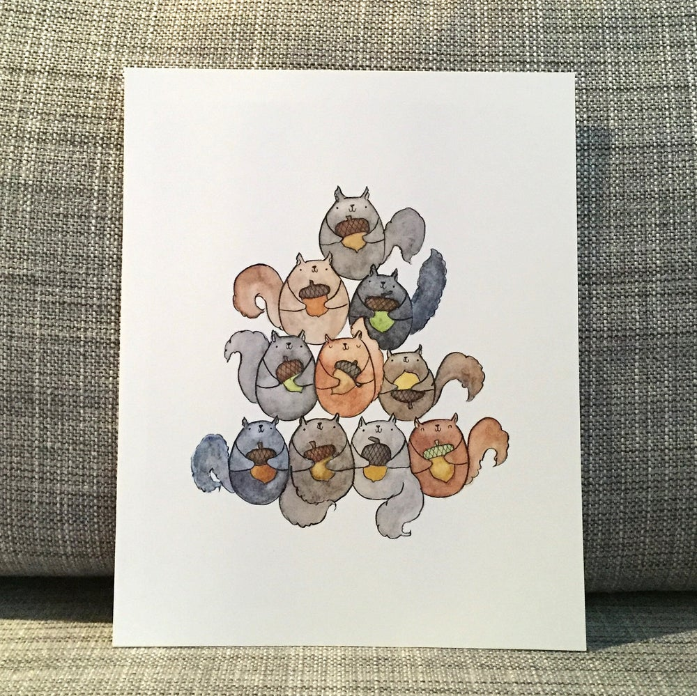 Image of squirrel pile print