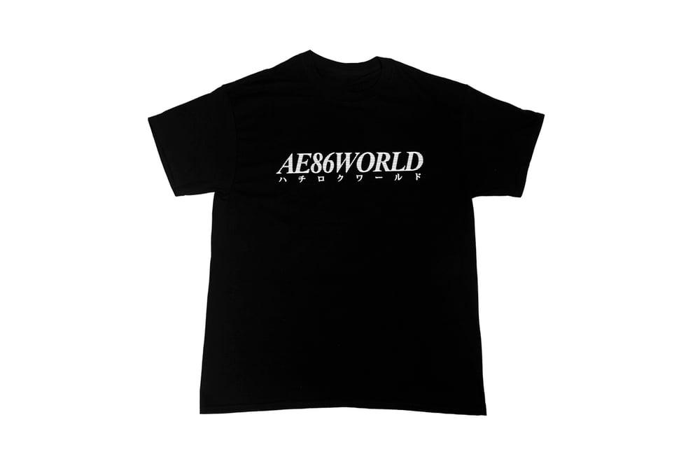 Image of AE86 WORLD T-Shirt (Black / White)