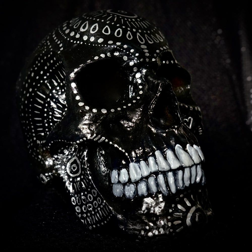 Image of ☠ Black Skull Custom Piece ☠